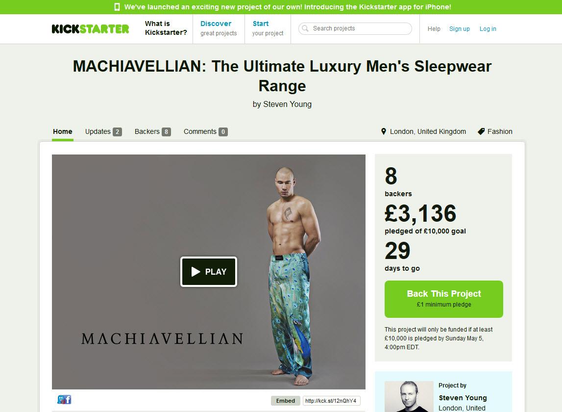 machiavellian kickstarter