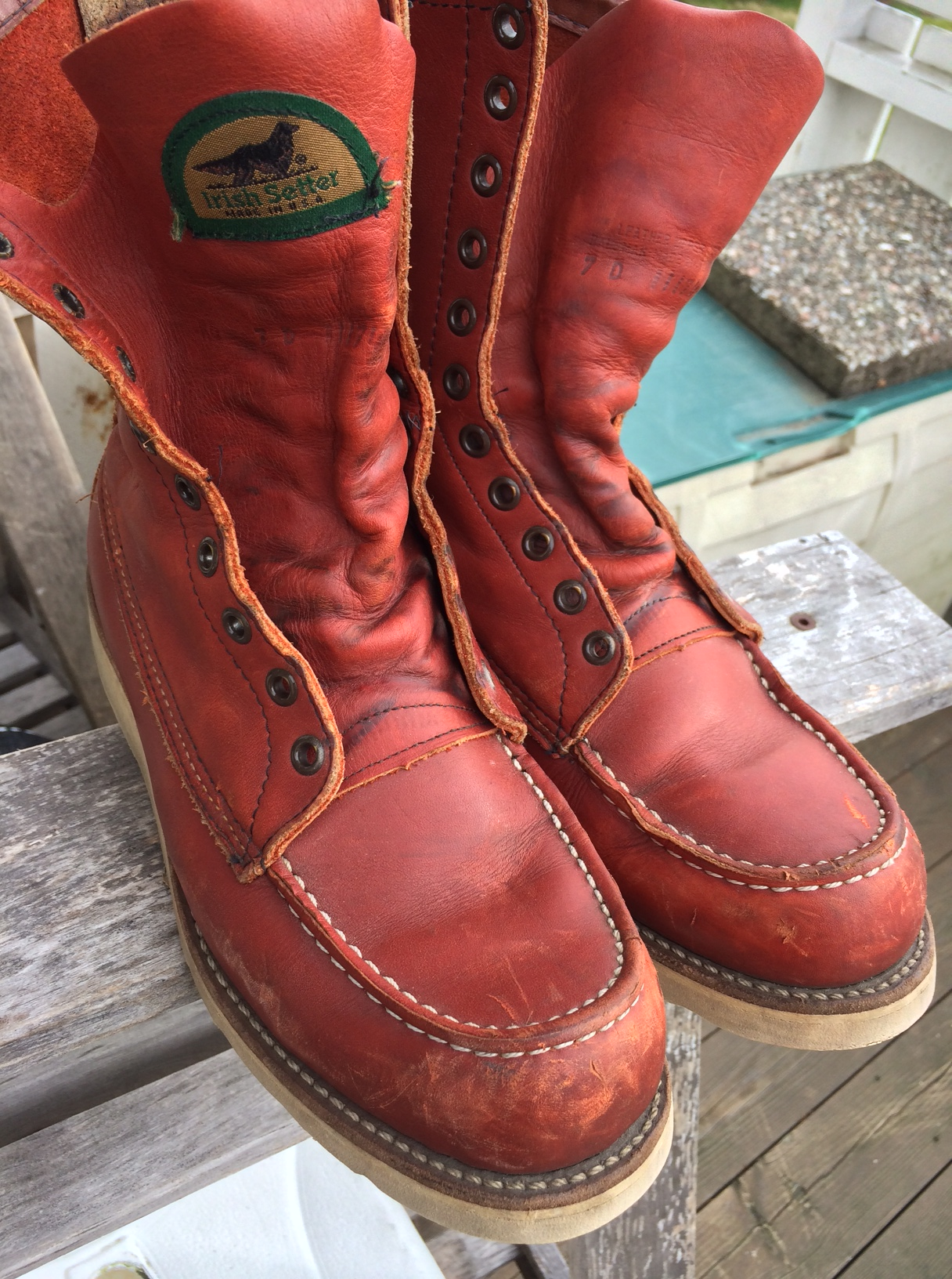 Further research shows that what I have lucked into is a pair of the Red  Wing Irish Setters, the iconic 877 work boots, introduced in 1952 and in  production ...