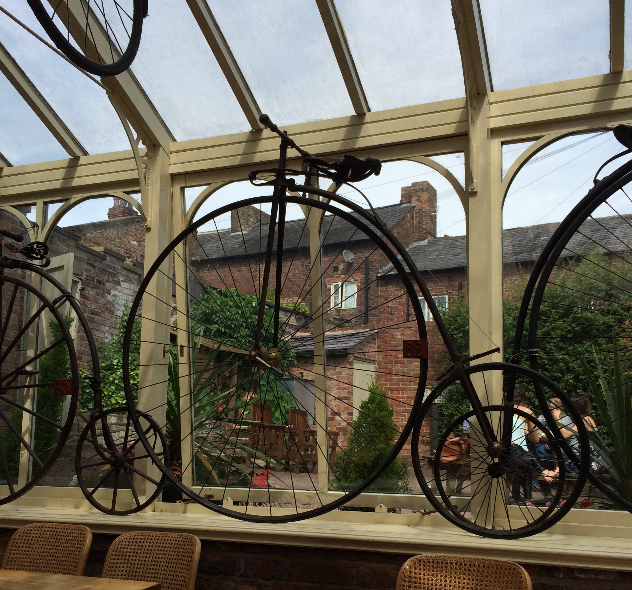 A huge number of Pennyfarthings to view.