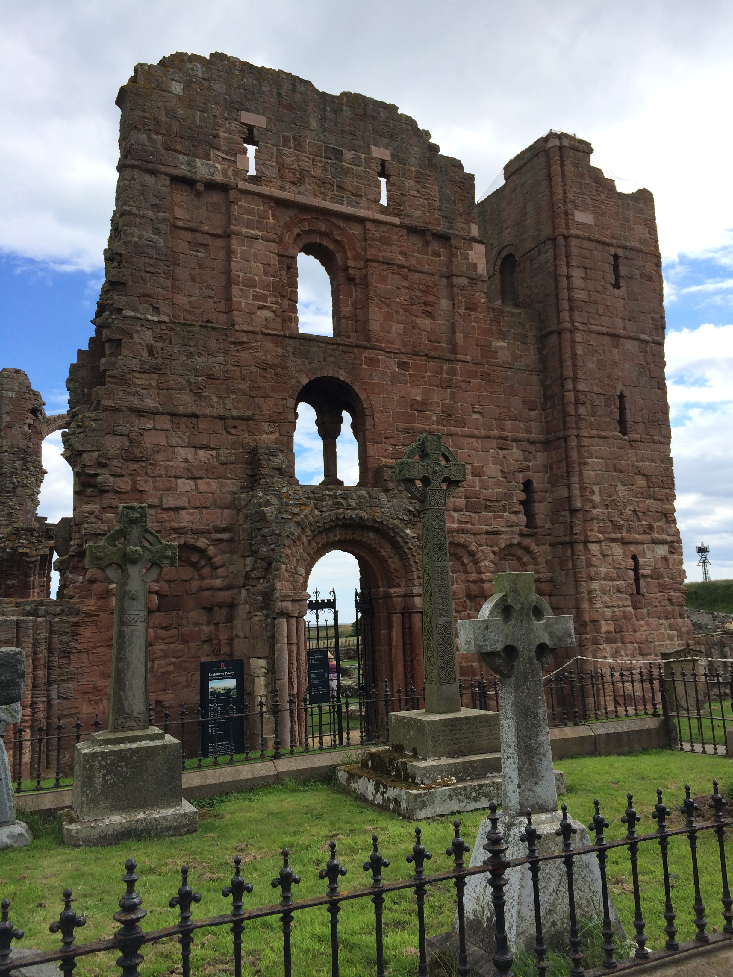 Part of the priory at Lindisfarne. Other parts have been rebuilt further.