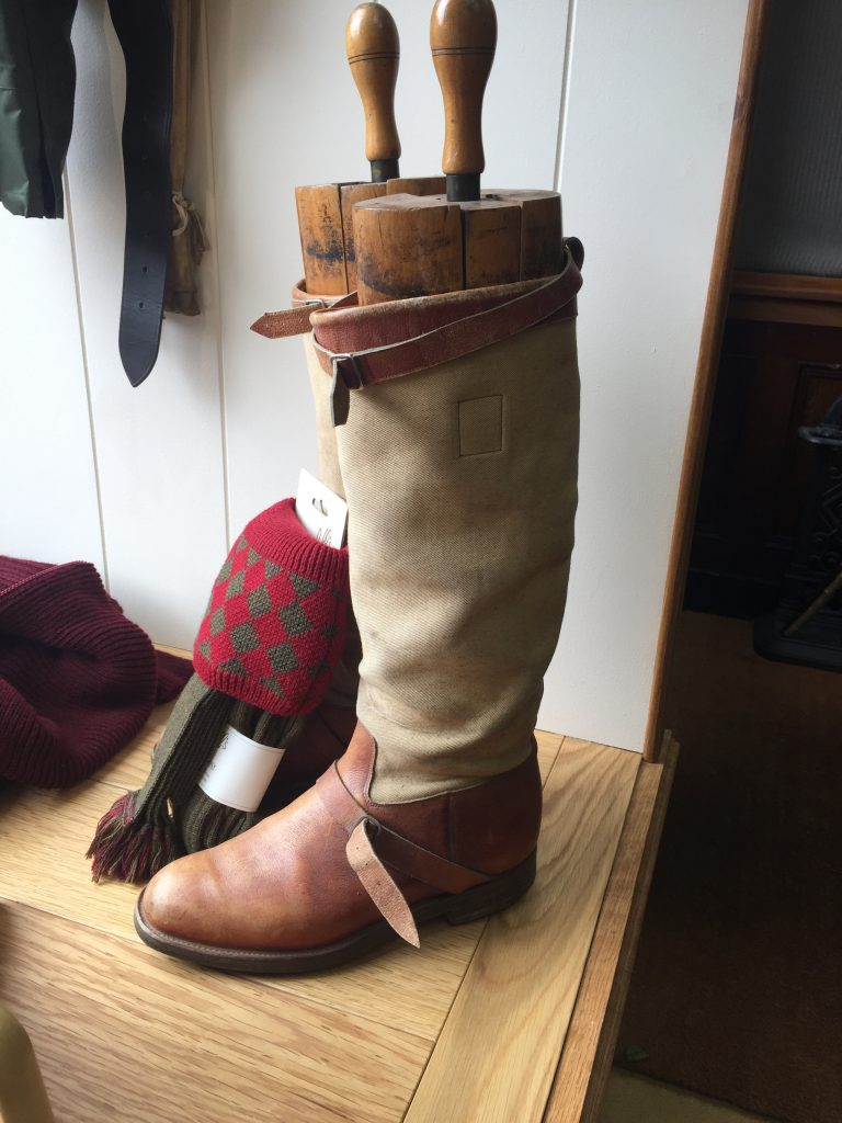 Vintage boots on display in the shop. I reckon these are due a remake!