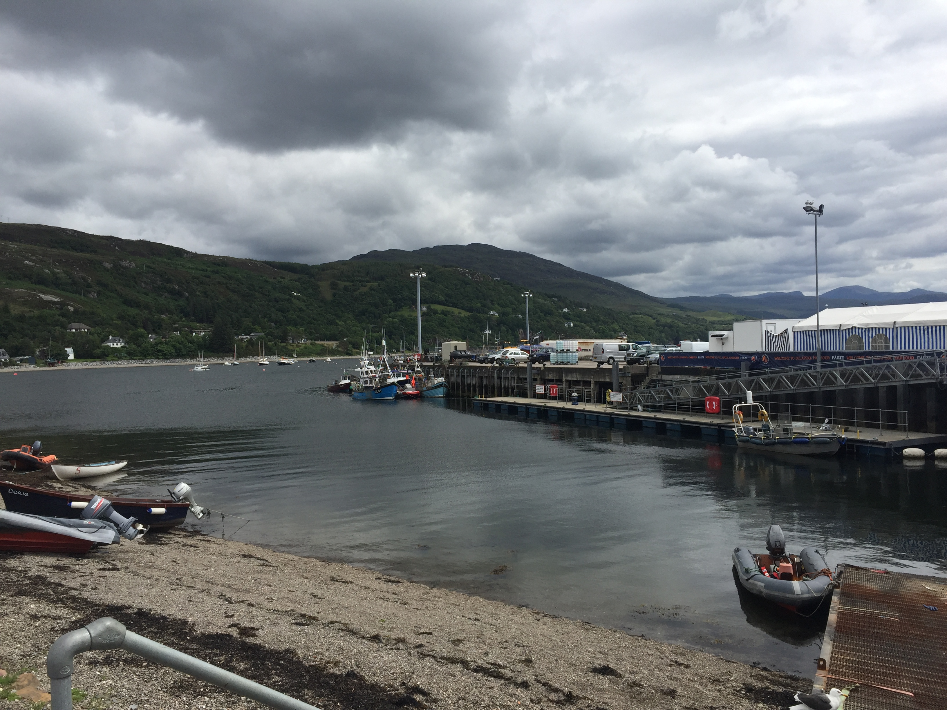 Ullapool harbour. Take the ferry from here to Stornoway.
